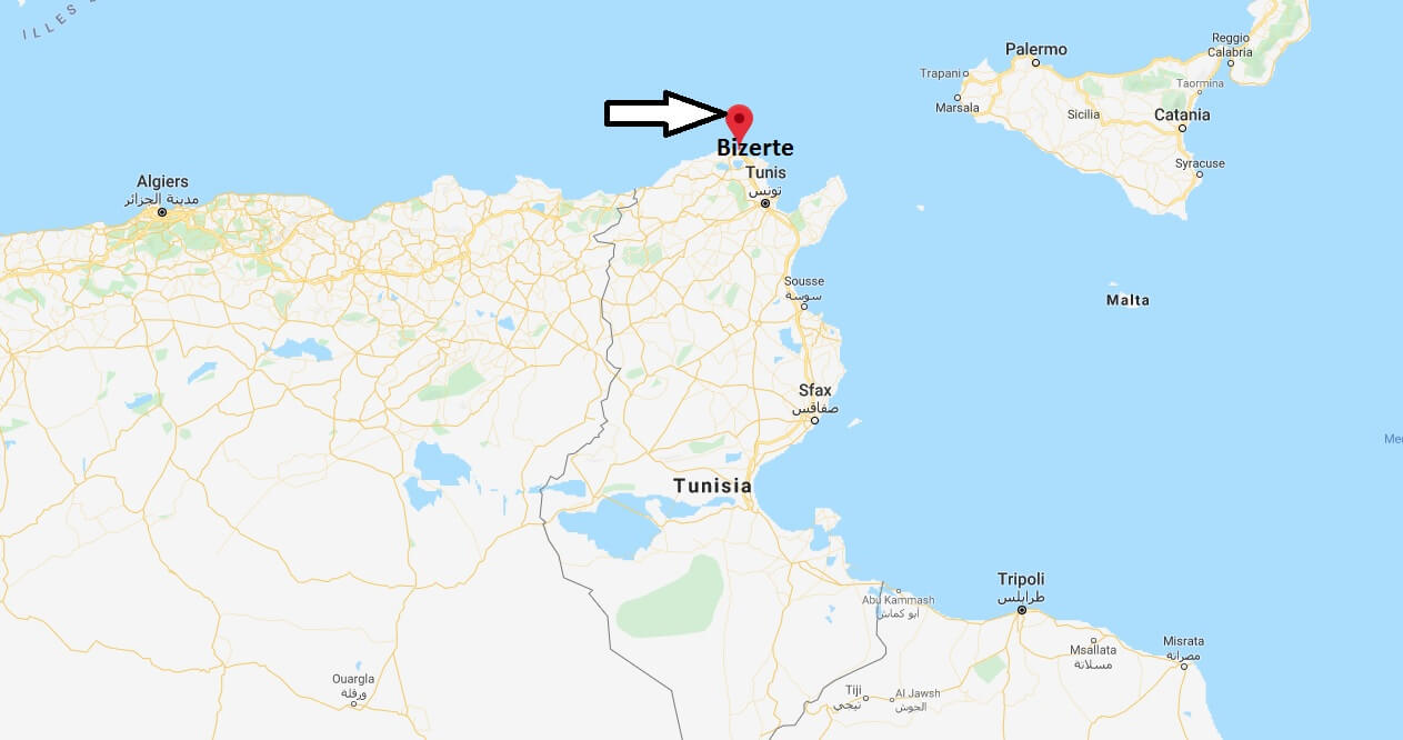 Where is Bizerte Located? What Country is Bizerte in? Bizerte Map