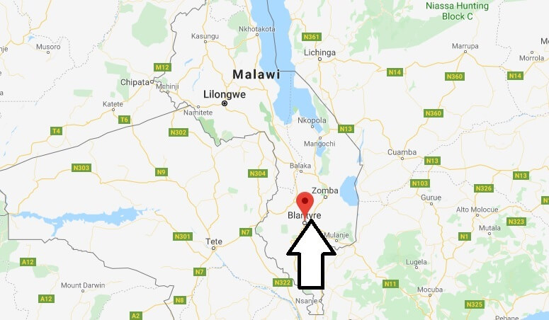 Where is Blantyre Located? What Country is Blantyre in? Blantyre Map