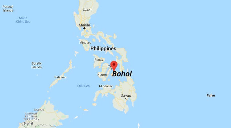 Where is Bohol Located? What Country is Bohol in? Bohol Map