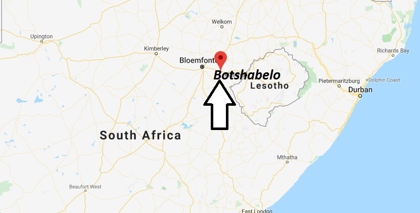 Where is Botshabelo Located? What Country is Botshabelo in? Botshabelo Map