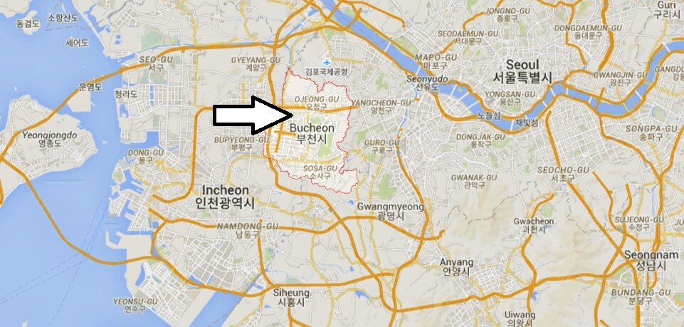 Where is Bucheon-si Located? What Country is Bucheon-si in? Bucheon-si Map