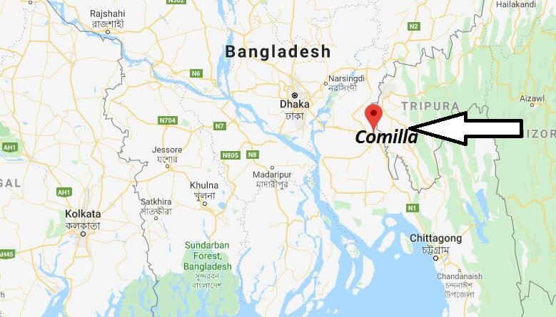 Where is Comilla Located? What Country is Comilla in? Comilla Map