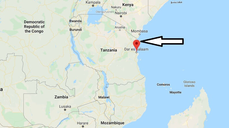 Where is Dar es Salaam Located? What Country is Dar es Salaam in? Dar es Salaam Map