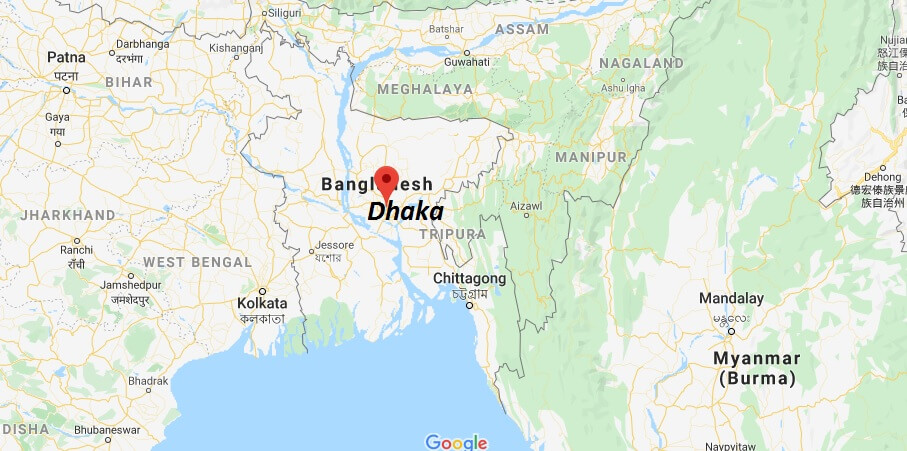 Where is Dhaka Located? What Country is Dhaka in? Dhaka Map