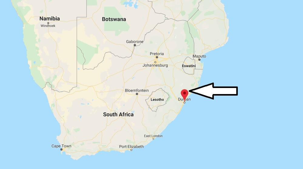 Where is Durban Located? What Country is Durban in? Durban Map