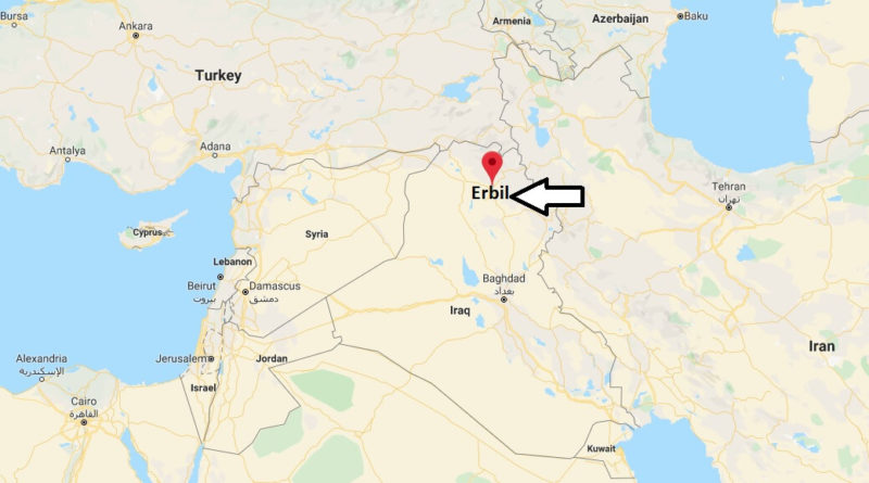 Where is Erbil Located? What Country is Erbil in? Erbil Map