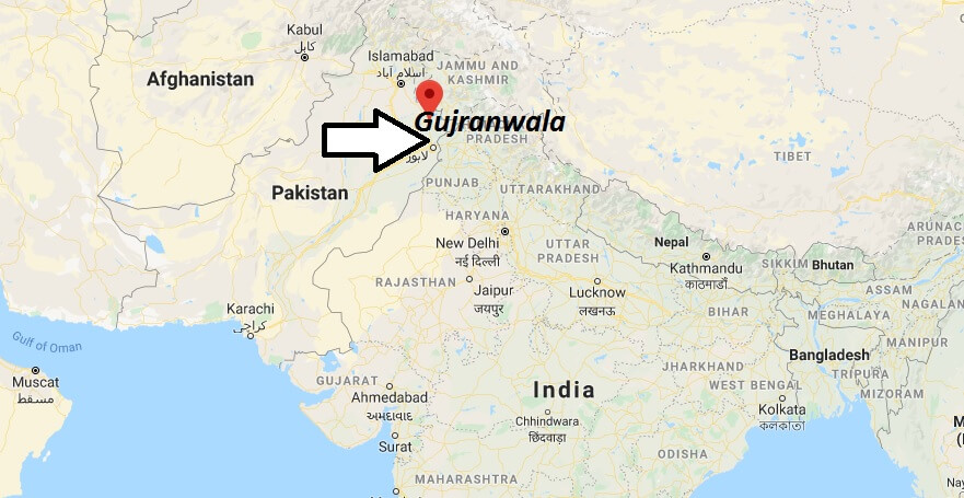 Where is Gujranwala Located? What Country is Gujranwala in? Gujranwala Map