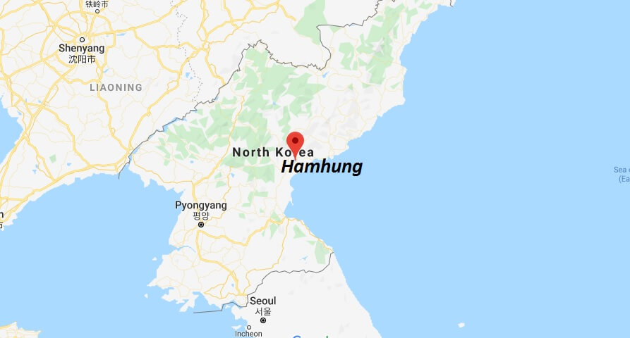 Where is Hamhung Located? What Country is Hamhung in? Hamhung Map