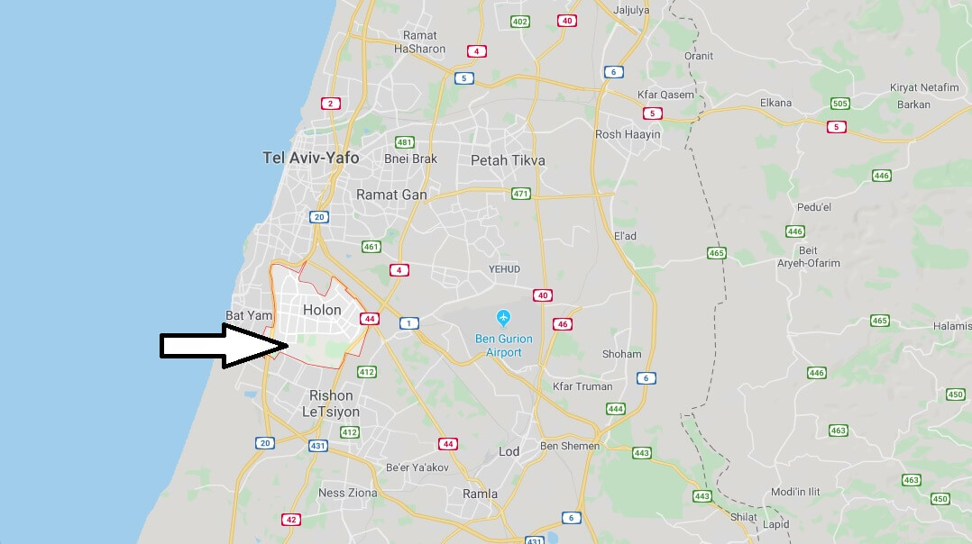 Where is Holon Located? What Country is Holon in? Holon Map