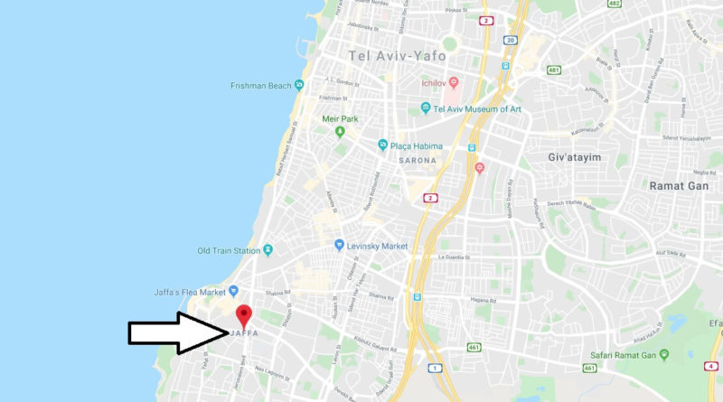 Where is Jaffa Located? What Country is Jaffa in? Jaffa Map