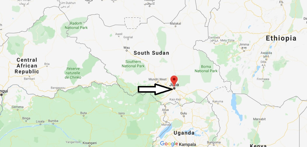 Where is Juba Located? What Country is Juba in? Juba Map