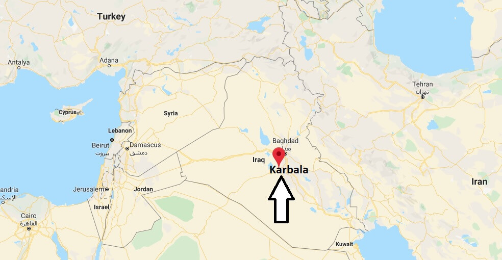 Where is Karbala Located? What Country is Karbala in? Karbala Map
