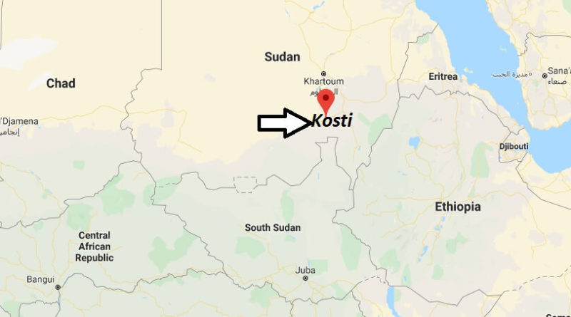 Where is Kosti Located? What Country is Kosti in? Kosti Map