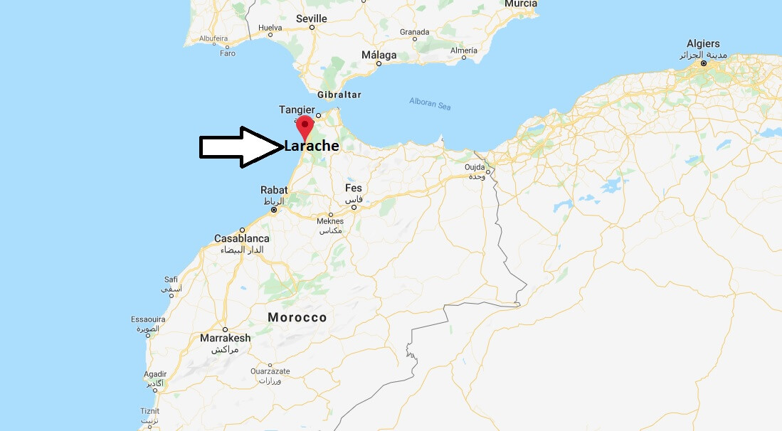 Where is Larache Located? What Country is Larache in? Larache Map