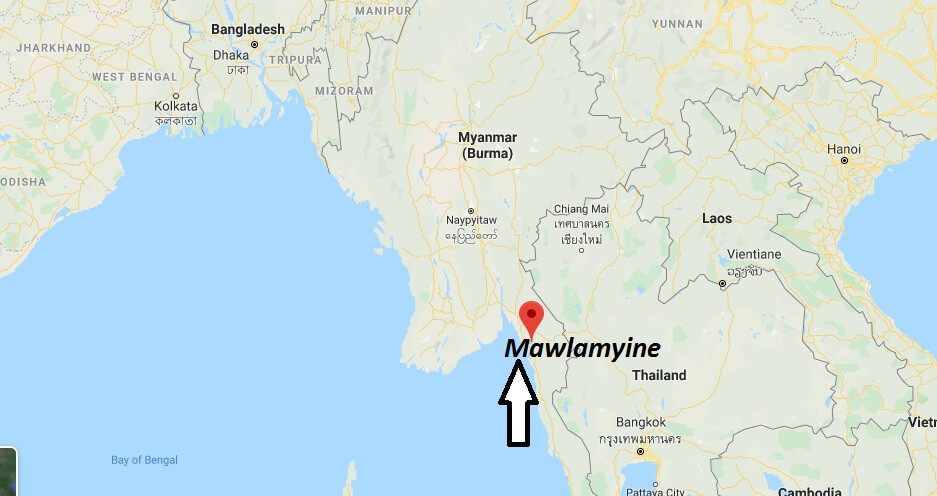 Where is Mawlamyine Located? What Country is Mawlamyine in? Mawlamyine Map