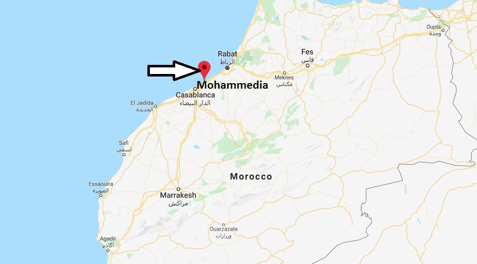 Where is Mohammedia, Morocco Located? What Country is Mohammedia in? Mohammedia Map