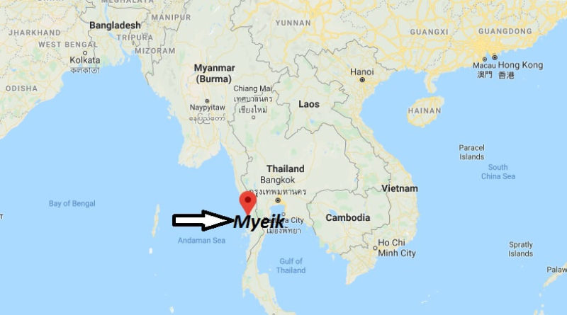 Where is Myeik Located? What Country is Myeik in? Myeik Map