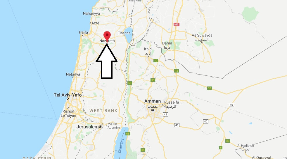 Where is Nazareth Located? What Country is Nazareth in? Nazareth Map