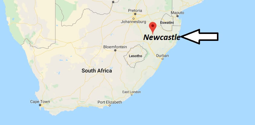Where is Newcastle (South Africa) Located? What Country is Newcastle in? Newcastle Map