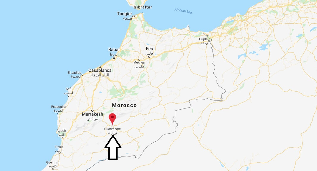 Where is Ouarzazate Located? What Country is Ouarzazate in? Ouarzazate Map
