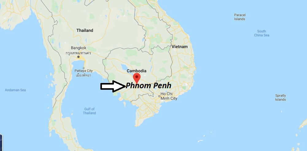 Where is Phnom Penh Located? What Country is Phnom Penh in? Phnom Penh Map