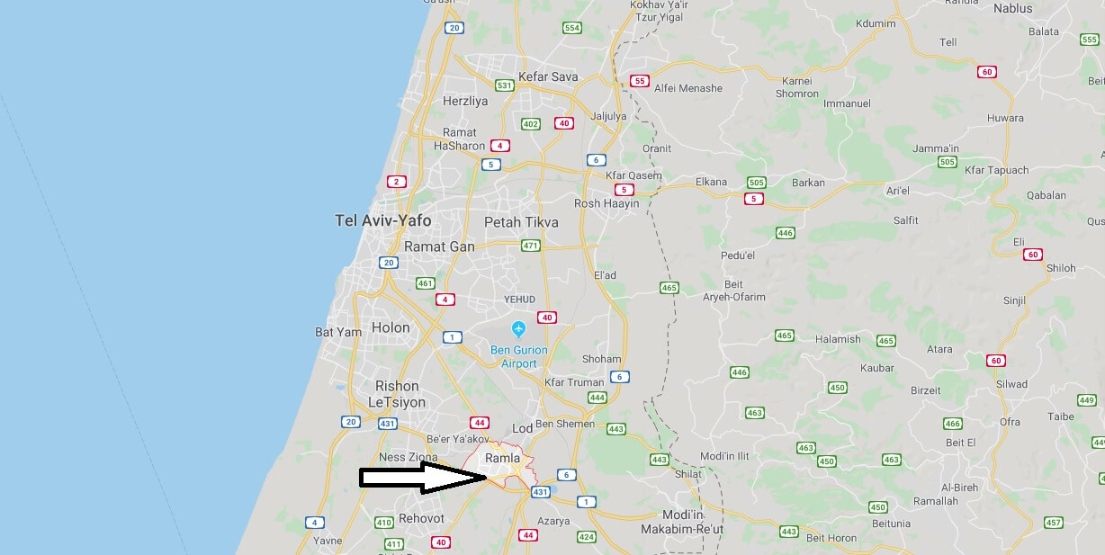 Where is Ramla Located? What Country is Ramla in? Ramla Map