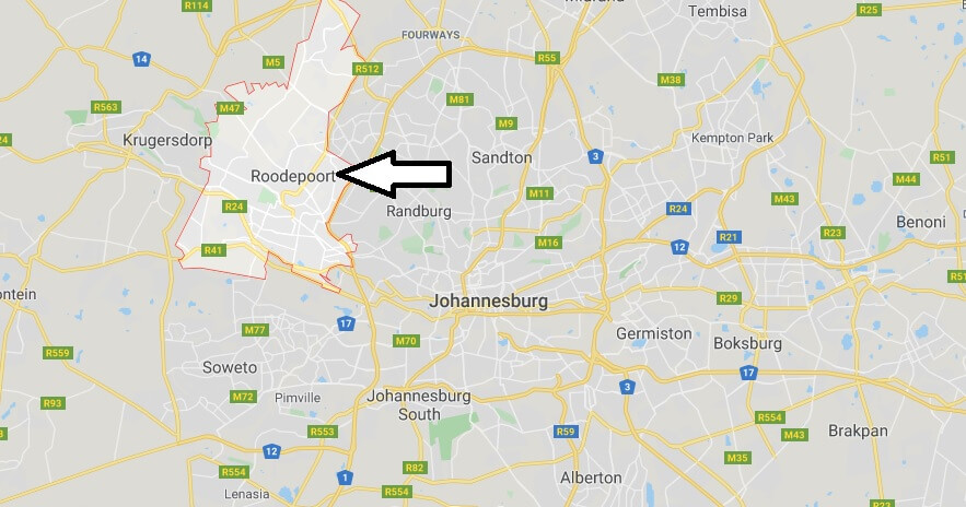 Where is Roodepoort Located? What Country is Roodepoort in? Roodepoort Map
