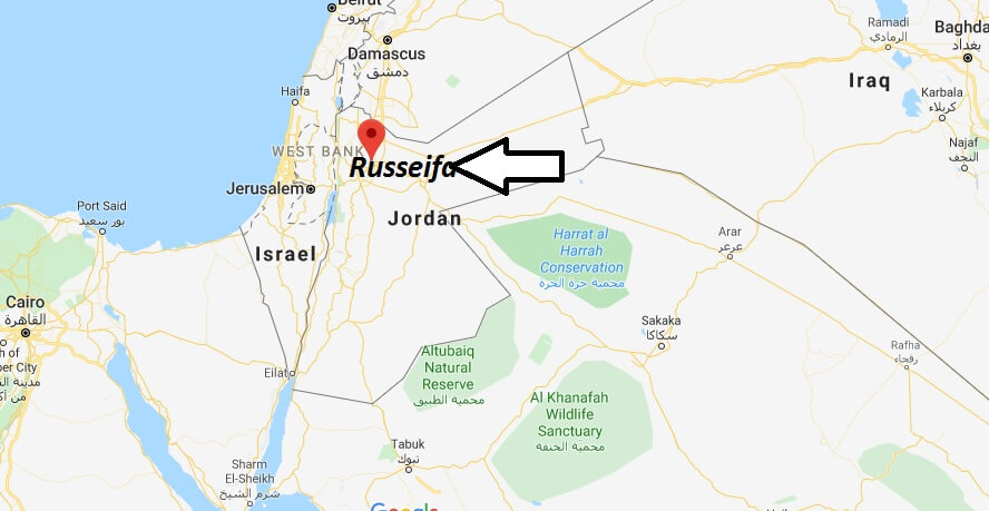 Where is Russeifa Located? What Country is Russeifa in? Russeifa Map