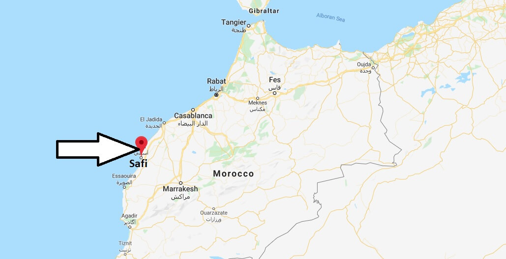 Where is Safi, Morocco Located? What Country is Safi in? Safi Map