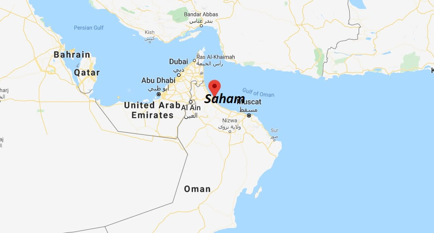 Where is Saham Located? What Country is Saham in? Saham Map