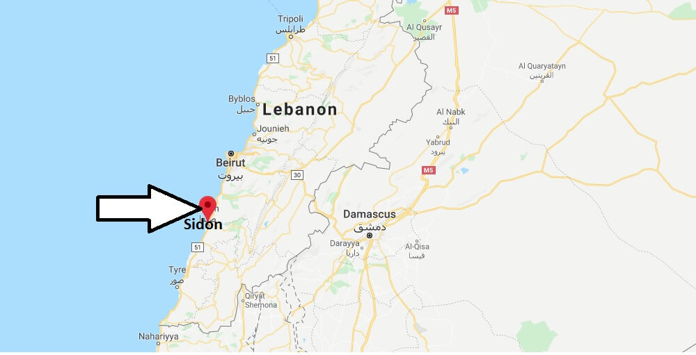 Where is Sidon Located? What Country is Sidon in? Sidon Map