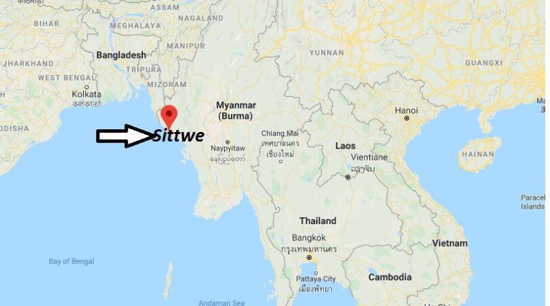 Where is Sittwe Located? What Country is Sittwe in? Sittwe Map