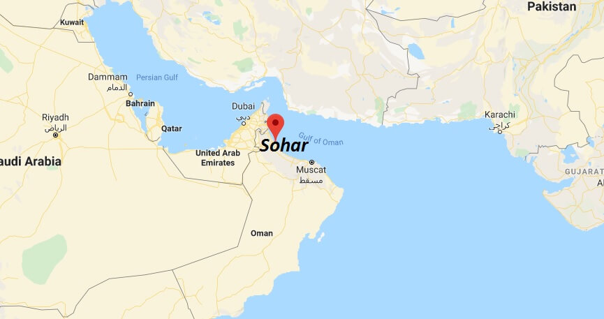 Where is Sohar Located? What Country is Sohar in? Sohar Map