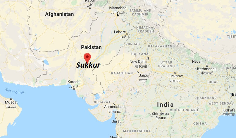 Where is Sukkur Located? What Country is Sukkur in? Sukkur Map