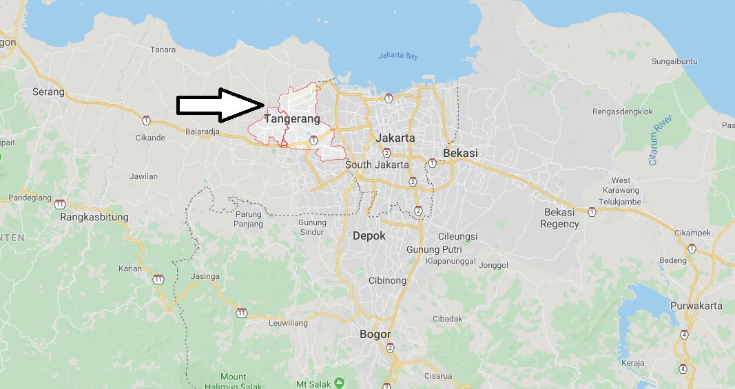 Where is Tangerang Located? What Country is Tangerang in? Tangerang Map