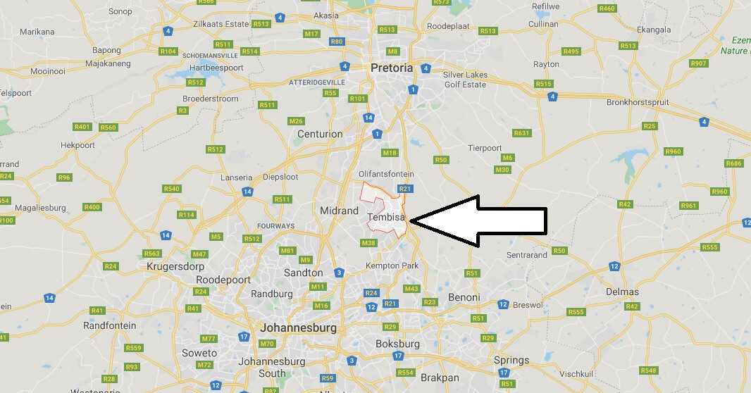 Where is Tembisa Located? What Country is Tembisa in? Tembisa Map