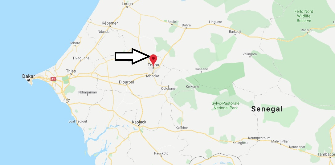 Where is Touba Located? What Country is Touba in? Touba Map