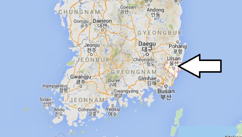 Where is Ulsan Located? What Country is Ulsan in? Ulsan Map