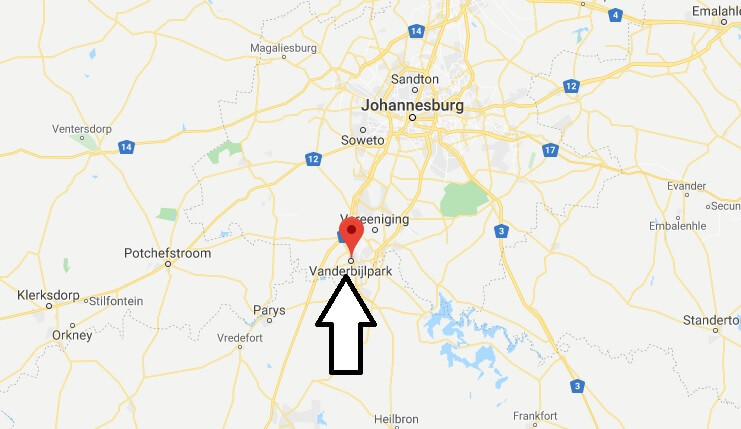 Where is Vanderbijlpark Located? What Country is Vanderbijlpark in? Vanderbijlpark Map