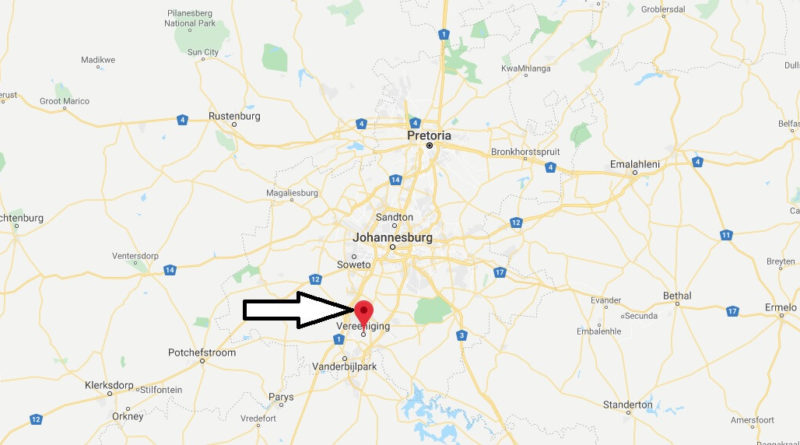Where is Vereeniging Located? What Country is Vereeniging in? Vereeniging Map