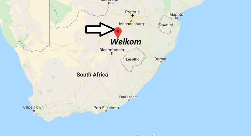 Where is Welkom Located? What Country is Welkom in? Welkom Map