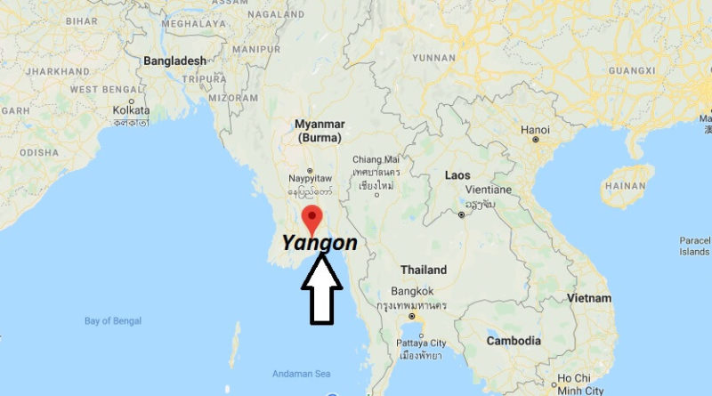 Where is Yangon Located? What Country is Yangon in? Yangon Map