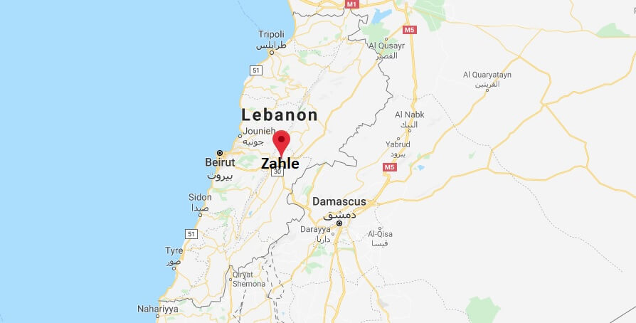 Where is Zahle Located? What Country is Zahle in? Zahle Map