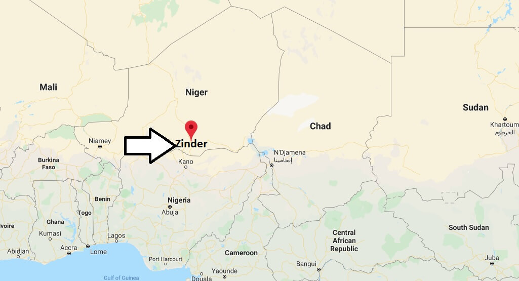 Where is Zinder Located? What Country is Zinder in? Zinder Map