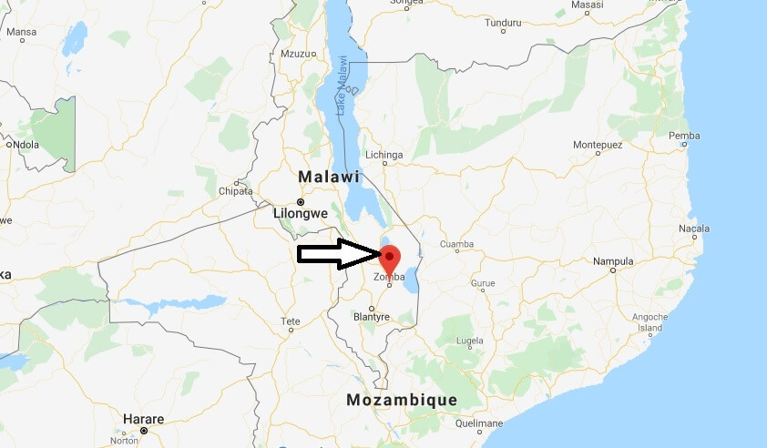 Where is Zomba Located? What Country is Zomba in? Zomba Map
