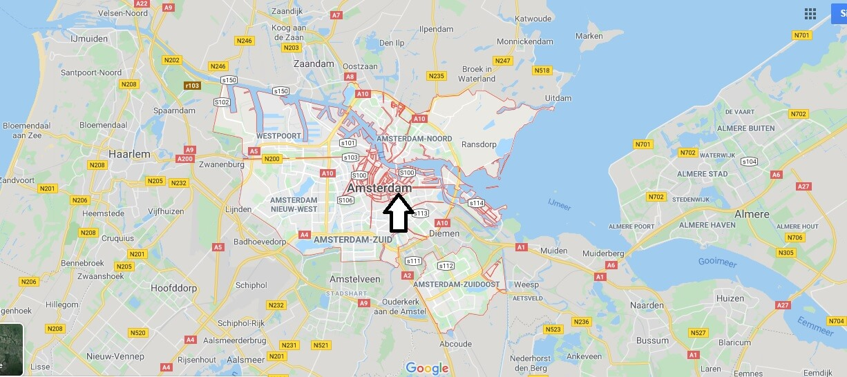Amsterdam on Map