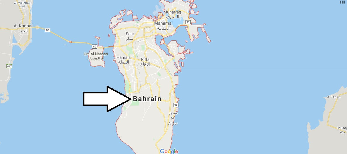 Bahrain on Map