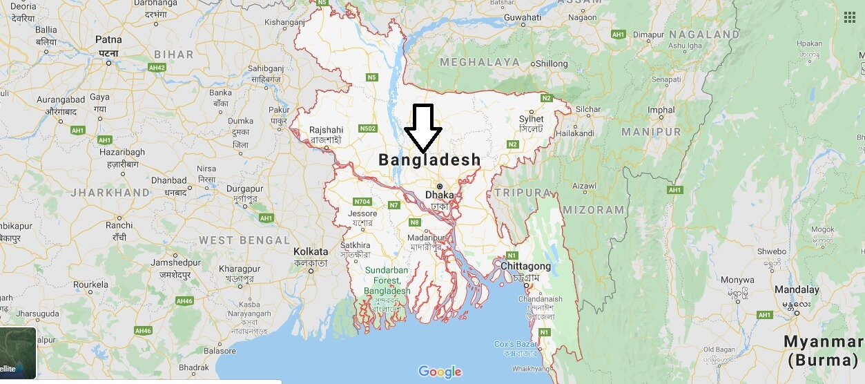 Bangladesh on Map