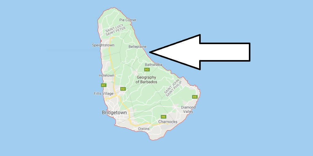 Barbados on Map