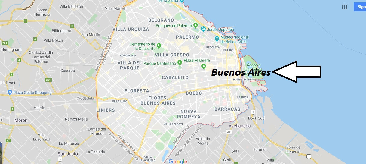 Buenos Aires on Map
